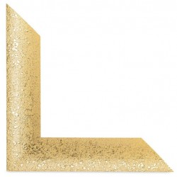 Su Misura Cornice Moderna in oro brillantinato