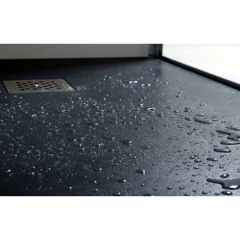 Piatto doccia in pietra sintetica ardesia 90x90 ad angolo - Piatto doccia in pietra ...