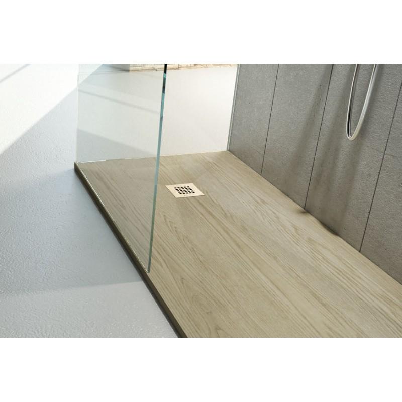 Piatto doccia in marmo resina effetto legno vendita - Box doccia resina ...