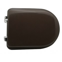 Sedile wc Visone per Cesame vaso Monoblocco Sintesi con cerniere cromate regolabili