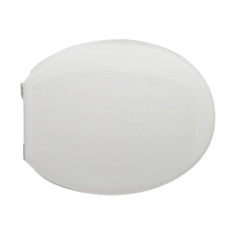 Sedile wc Bianco per Globo vaso Lei con cerniere cromate regolabili