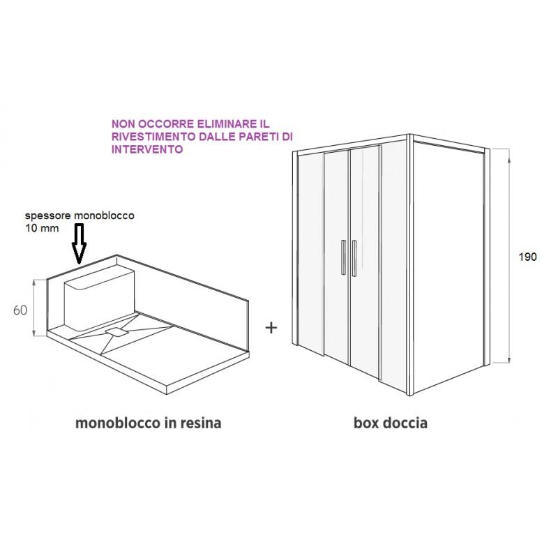 Box doccia da vasca a doccia vendita online italiaboxdoccia - Altezza box doccia ...