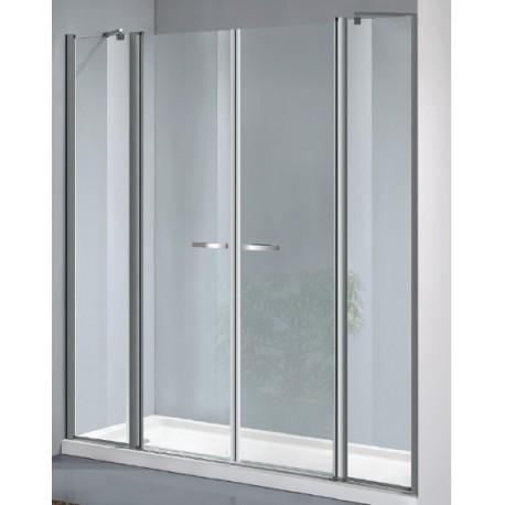 Box doccia a doppia porta battente con due ante fisse cod - Porta doccia saloon ...