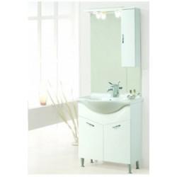 Mobile da bagno Gemma da 75 cm bianco con specchio ad illuminazione led