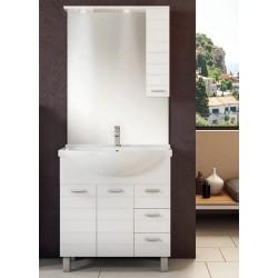 Mobile da bagno Arianna da 105 cm bianco con specchio ad illuminazione led