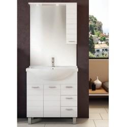 Mobile da bagno Arianna da 85 cm bianco con specchio ad illuminazione led