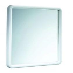 Specchio Decorativo Con Cornice in resina termoplastica bianca L.45xH.45 cm