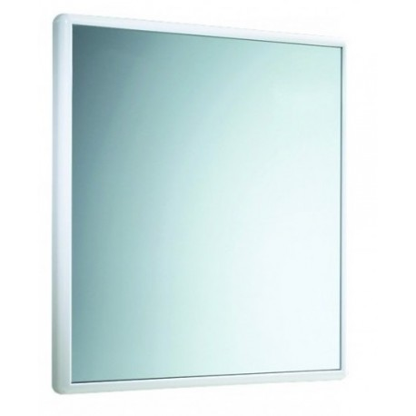 Specchio Decorativo Con Cornice in resina termoplastica bianca L.55xH.60 cm