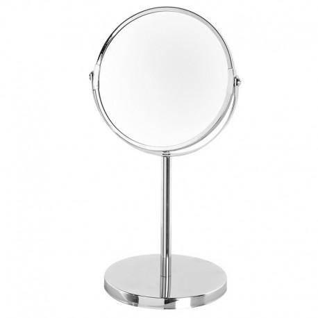 Specchio 3X ingranditore d'appoggio in acciaio cromato