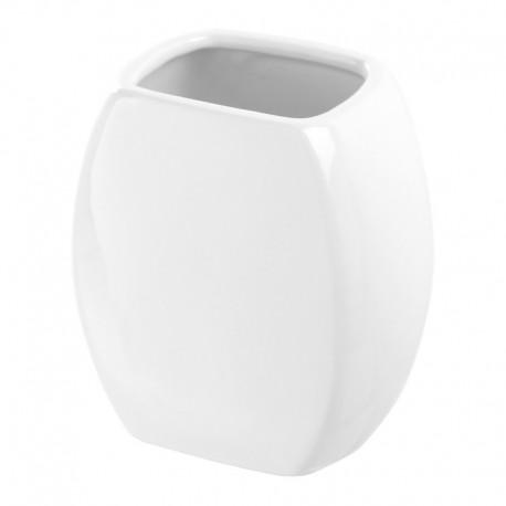 Porta spazzolino In Ceramica Bianca