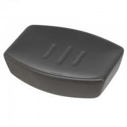 Porta sapone da appoggio in ceramica rettangolare color grigio