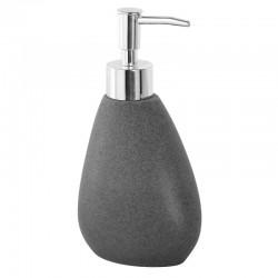 Dispenser da appoggio in poliresina effetto pietra colore grigio
