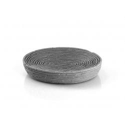 Porta sapone da appoggio in resina colore grigio