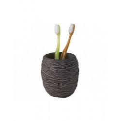 Porta spazzolino da appoggio in resina colore grigio