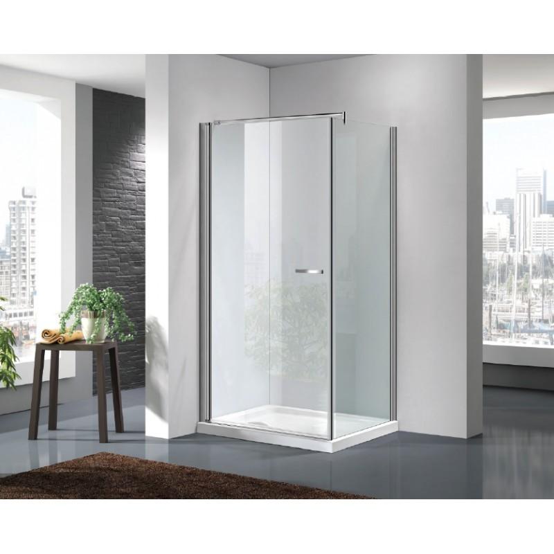 Box doccia a chiusura battente com parete fissa cristallo 6 mm vendita online - Box doccia globo ...