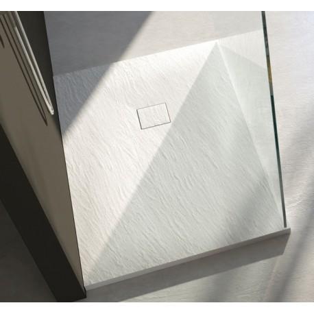 Piatto doccia in pietra sintetica con piletta materica - Piatto doccia sassi ...