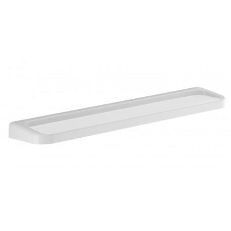 Mensola 60 cm a parete in resina termoindurente bianco per bagno Gedy mod. Darios