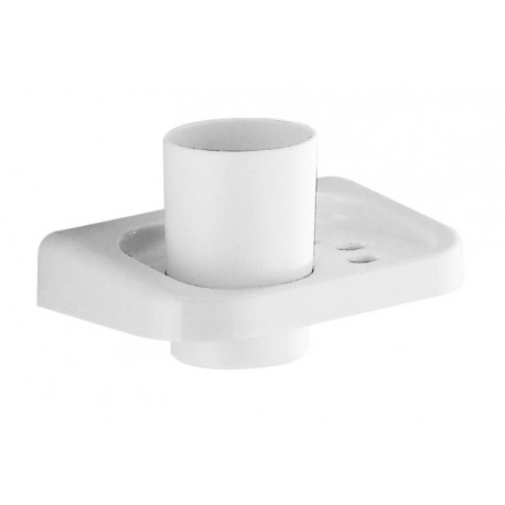 Portaspazzolino a parete in resina termoindurente bianco per bagno Gedy mod. Darios