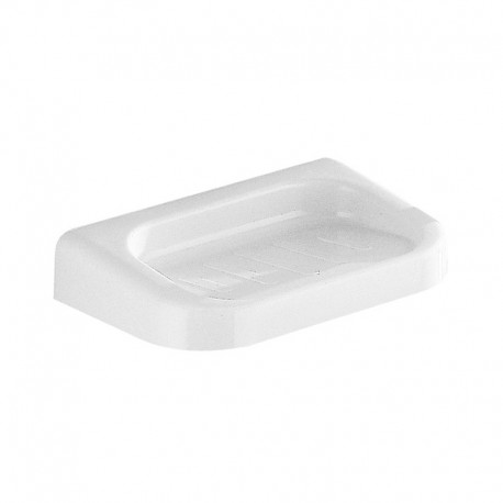 Portasapone a parete in resina termoindurente bianco per bagno Gedy mod. Darios