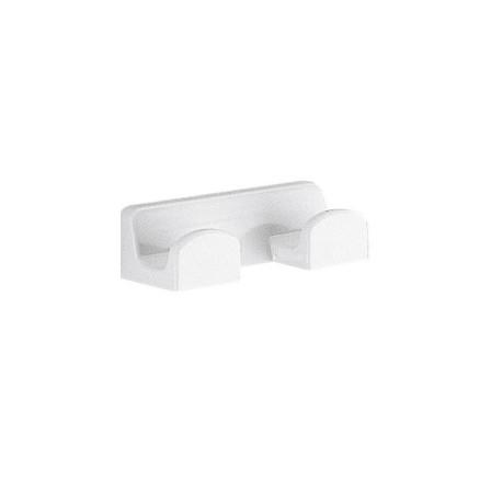 Appendino doppio a parete in resina termoindurente bianco per bagno Gedy mod. Darios