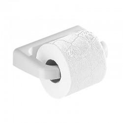 Portarotolo a parete in resina termoindurente bianco per bagno Gedy mod. Darios