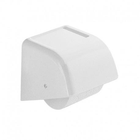 Portarotolo coperto a parete in resina termoindurente bianco per bagno Gedy mod. Darios