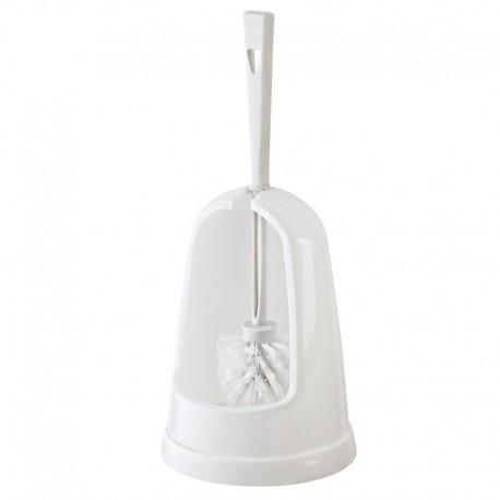 Portascopino d'appoggio in resina termoindurente bianco per bagno mod. Eco