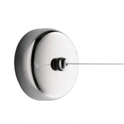 Filo stendibiancheria Tullo di GEDY riavvolgibile in acciaio inox cromato estensibile fino a 270 cm