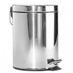 Pattumiera gettacarte rifiuti acciaio cromato capienza 3 litri