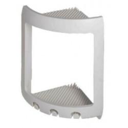 Angoliera doccia porta oggetti in resina termoplastica bianca 16 x 16 x 30 cm Linea Metaform