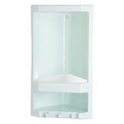 Angoliera doccia porta oggetti in resina termoplastica bianca (L) 22 x (P) 14 x 38h cm Linea Gedy