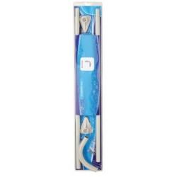 Telaio Angolare Bianco per Tenda Doccia 80x80 cm