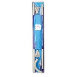 Telaio Angolare Bianco per Tenda Doccia 75x75 cm