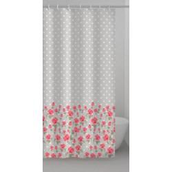 Tenda per doccia in materiale vinile a fantasia floreale 120 x 200h cm