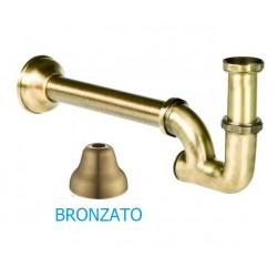 """Sifone Esse a colonna bronzato da 1""""1/4"""