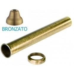Tubo con cartella e dado bronzato di diametro 32 mm