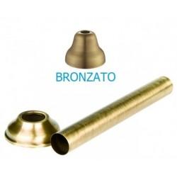 Tubo diritto per wc con rosone bronzato di diametro 30 mm