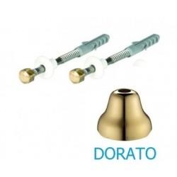 Fissaggio dorato per l'installazione di vaso o bidet con fori verticali