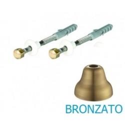 Fissaggio bronzato per l'installazione di vaso o bidet con fori verticali