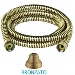 Flessibile per doccia o vasca bronzato