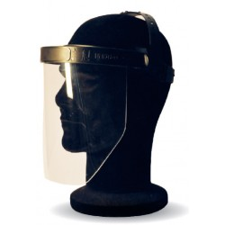 Visiera protettiva paraschizzi con schermo in policarbonato omologata