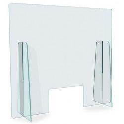 Schermo protettivo parafiato autoportante in plexiglass trasparente da 5 mm
