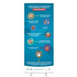 Espositore facciale di prevenzione per contenere contagio da coronavirus dimensione 85 x 200 cm