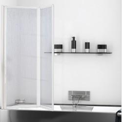 Parete sopravasca Altezza 140 x Larghezza 95 cm in acrilico con profili alluminio bianco modello lilly