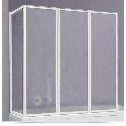 Box sopravasca 70x95 cm acrilico con profili alluminio bianco modello susy