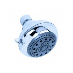 Soffione doccia a 2 getti in ABS anticalcare diametro 70 mm Serie Rubino