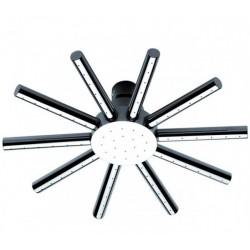 Soffione Doccia PIOGGIA RAIN diametro 15 cm con 60 getti con terminale getti in silicone,autopulente,a snodo Ottone Cromato