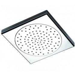 Soffione doccia tondo 16 cm in ABS cromato con ugelli anticalcare