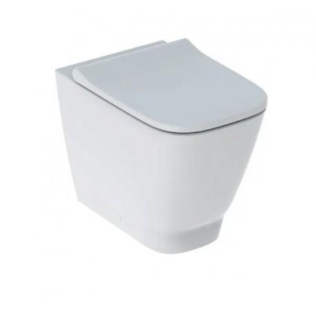 Geberit Smyle Square RIMFREE® vaso con scarico multi (S/P) completo di sedile con chiusura ammortizzata art. 500.829.00.1