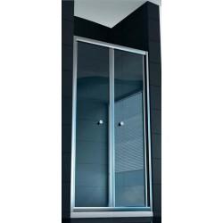 Box Doccia ad Apertura Saloon Altezza 185 cm Cristallo 6 mm Profilo Cromo art. OM12